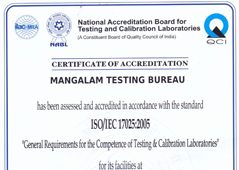 NABL accreditation Certificate Testing